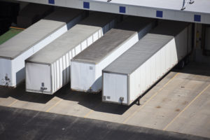 Loading docks and the semi truck trailers